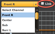 Linking left and right channels