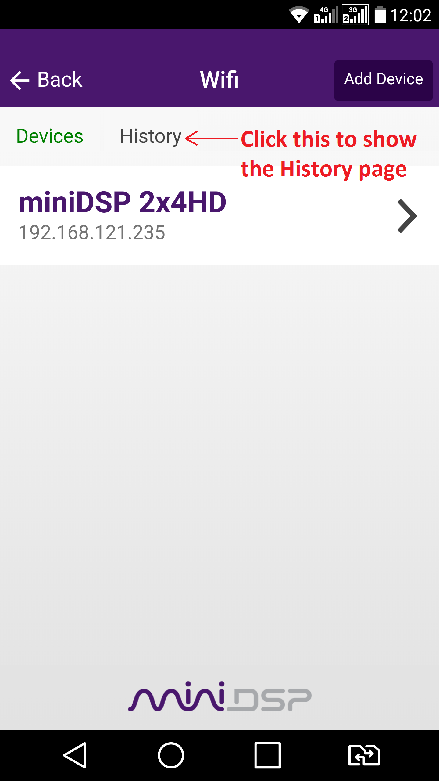 android_Ios_miniDSP_app