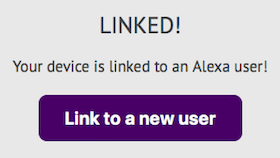 Successful link with Alexa