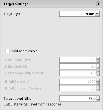 REW equalization for miniDSP target settings