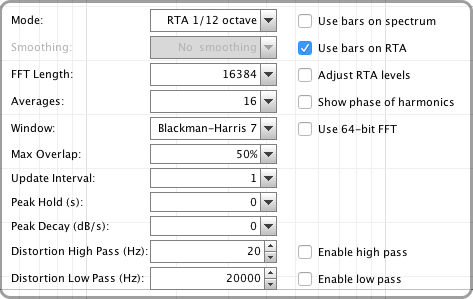 RTA settings for  headphone EQ on iPhone