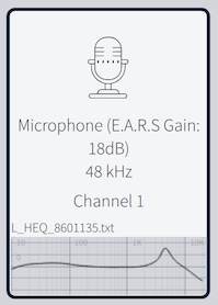 Load EARS calibration file into Dirac Live