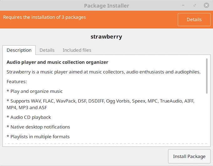 Install the Strawberry music player