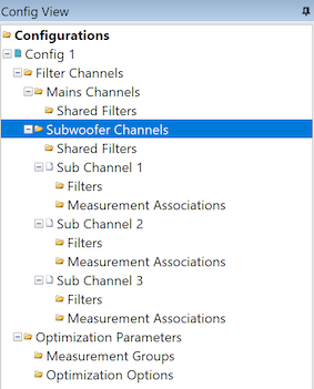 Sub filter channels in