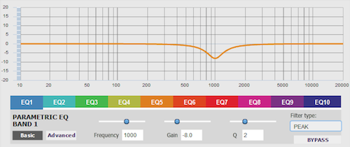 Surround sound EQ with nanoAVR