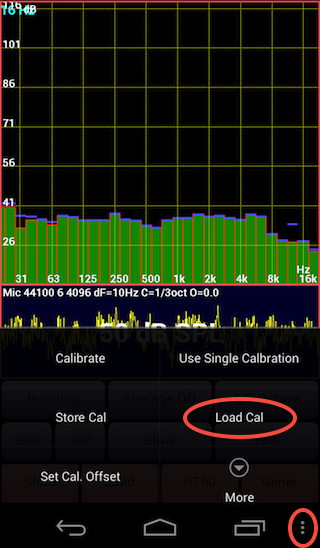 AudioTool load calibration file