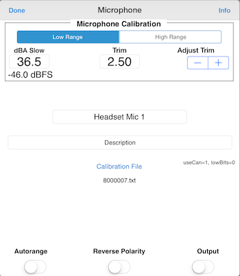 AudioTools microphone calibration
