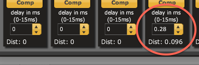 Setting time delay in 2x8 plugins