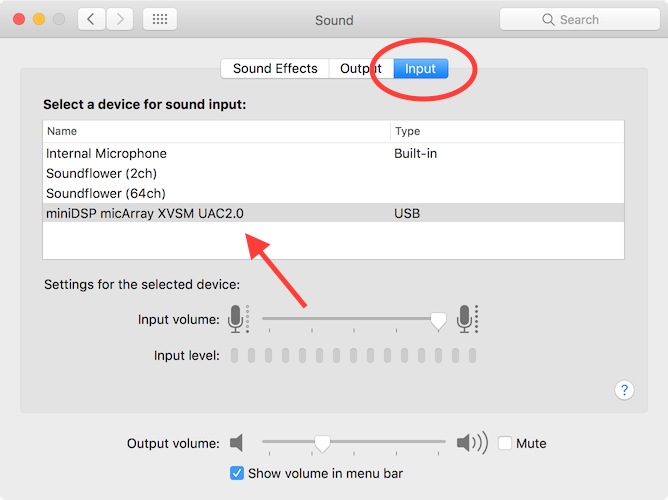 Selecting the UMA-8 microphone array for Siri