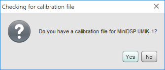Use cal file?