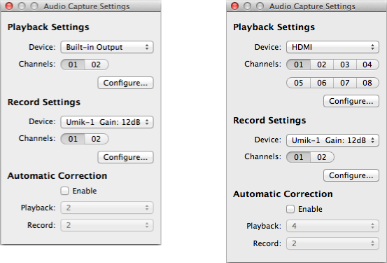 UMIK-1 capture settings in FuzzMeasure Pro