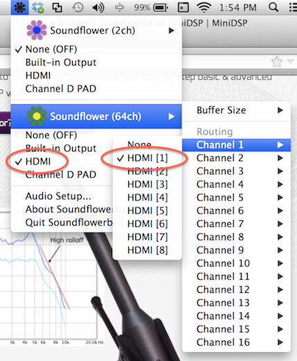 Using the UMIK-1 and REW with HDMI output - Mac