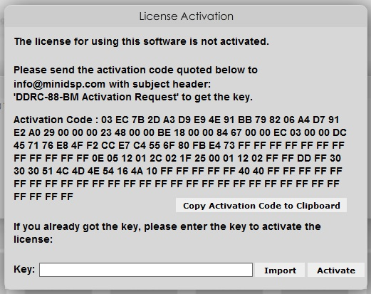 license activation