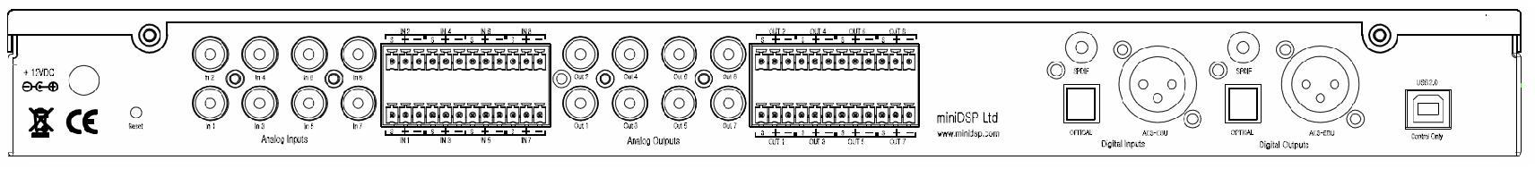 miniDSP 2x8/8x8 Box