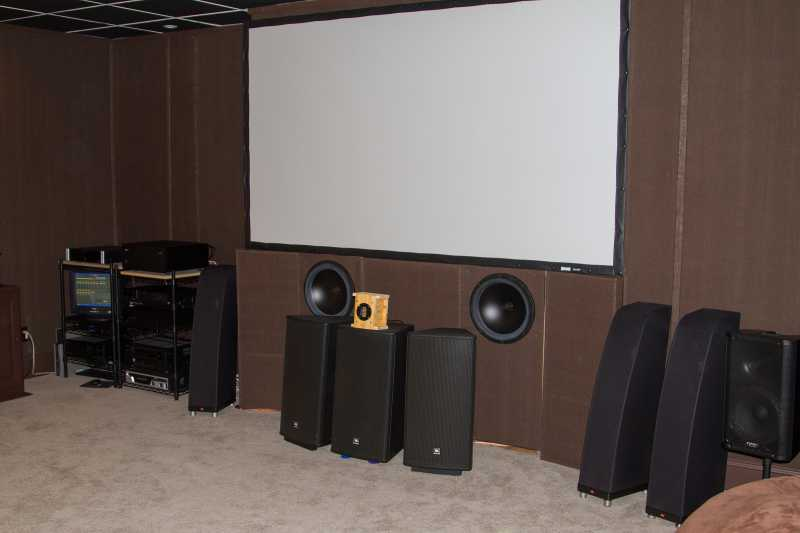home theater front speakers. why pa speakers for the center channel? home theater use, many based tweeters cannot handle dynamic response of movie content at high volume front