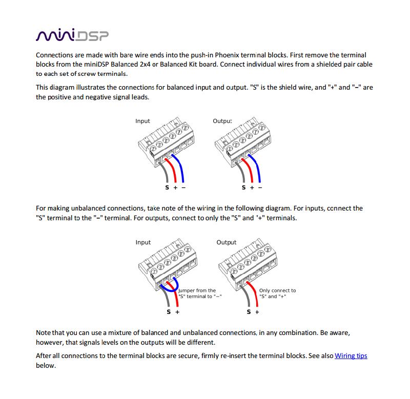 MiniDSP : miniDSP 2x4 Balanced (Balanced/unbalanced in-out) (1/1) on balanced to unbalanced cable, balanced xlr wiring, balanced to unbalanced op-amp,