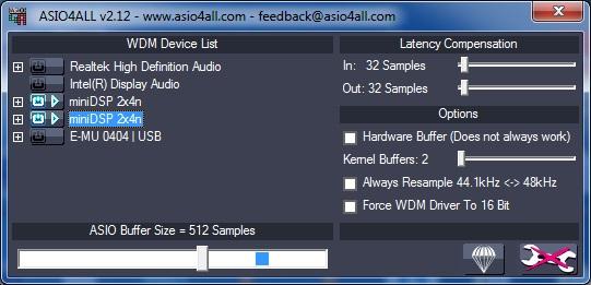 MiniDSP : Aggregate USB Audio for dual 2x4HD under Windows (1/1)